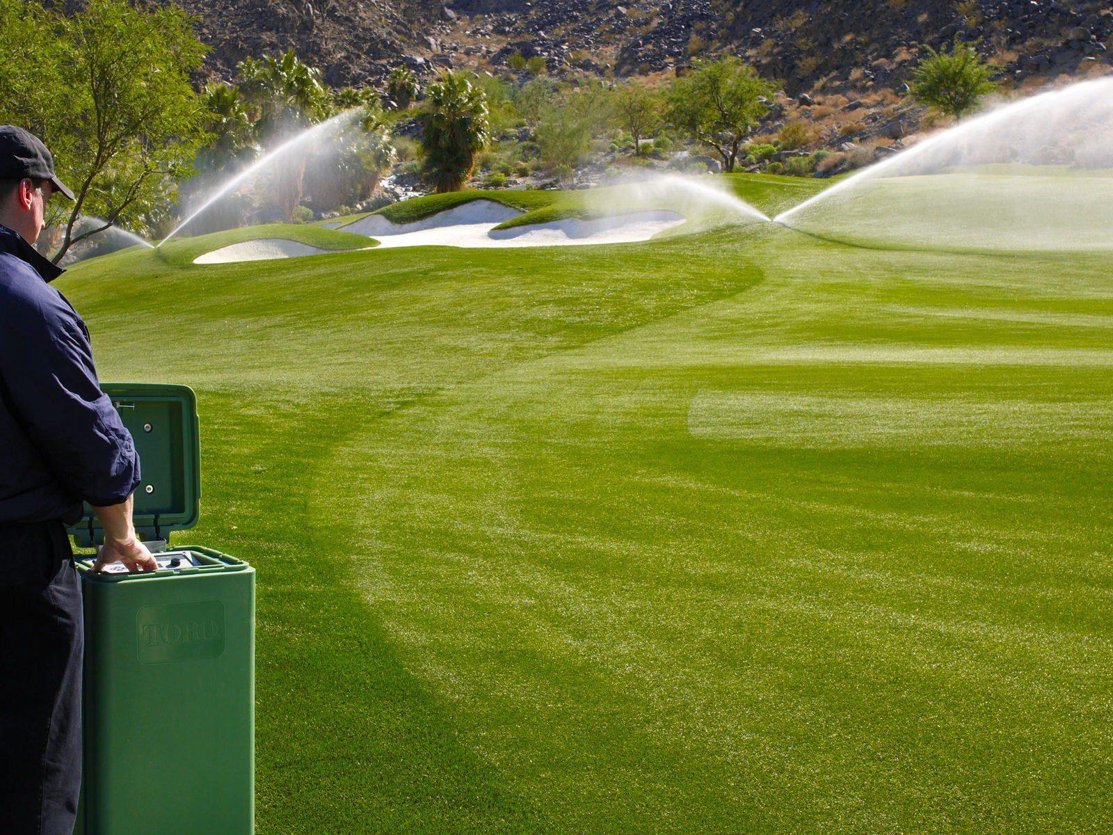 irrigazione campo da golf