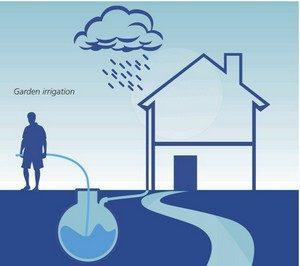 recupero acqua piovana per l'irrigazione