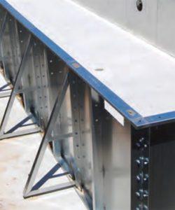 struttura piscina pannelli di acciaio