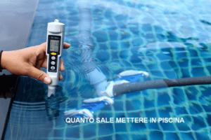 misurazione del sale in piscina