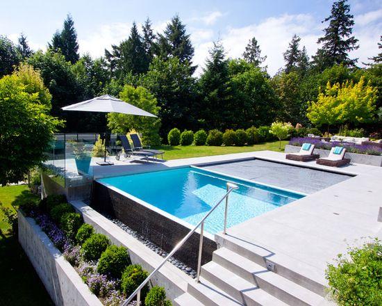 piscina a sfioro-un lato