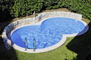 piscina gre a forma di otto