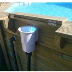 skimmer per piscina in legno