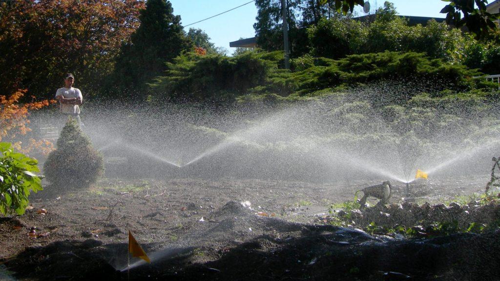 irrigatori statici in funzione