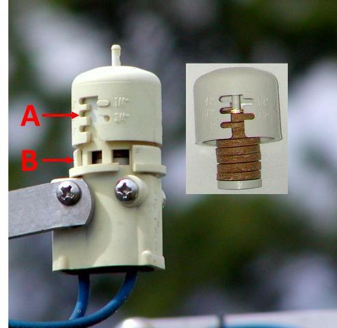 regolazione sensore pioggia